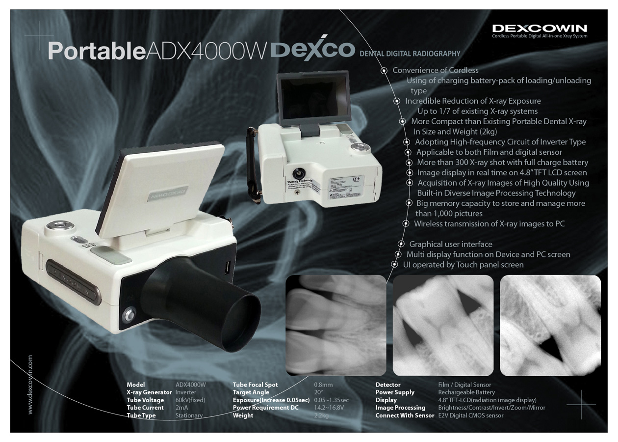 iRay D4 Portable Dental Hand-Held Digital X-Ray Unit