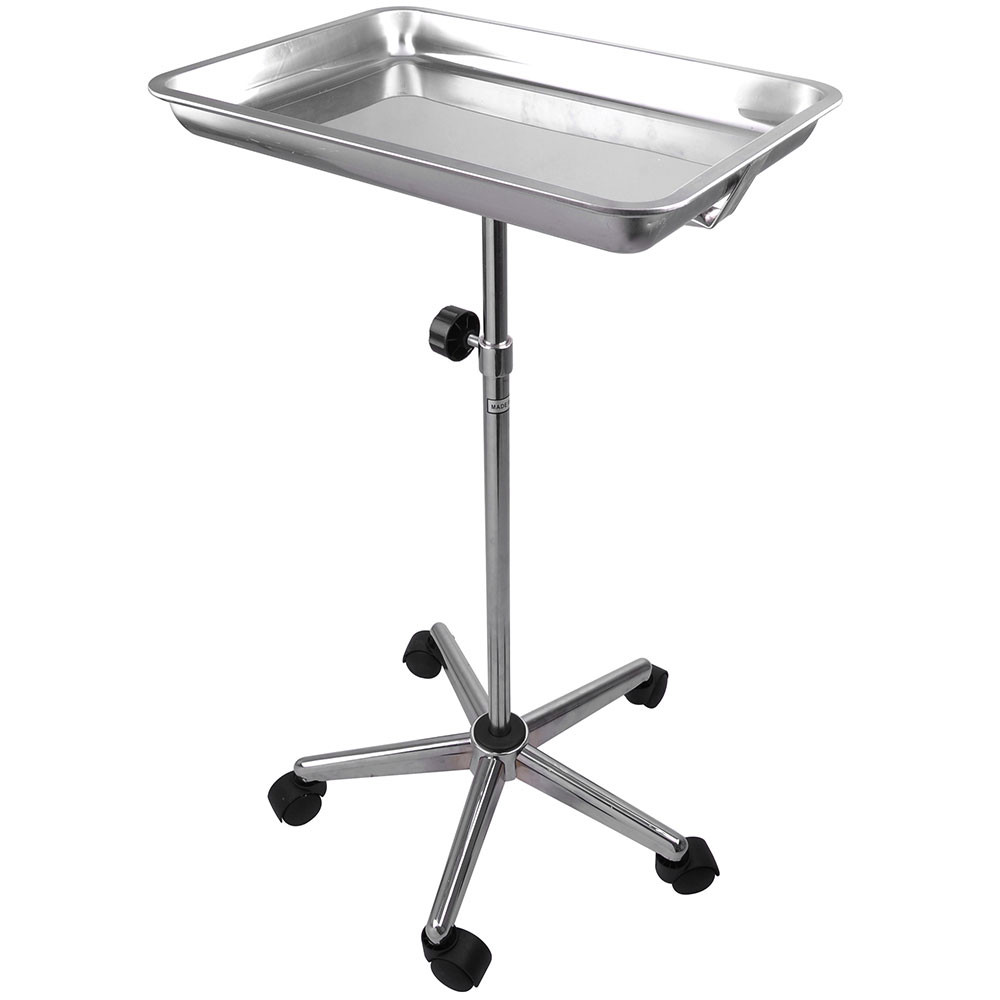 Dental Medical Stainless Steel Mobile Tray Stand