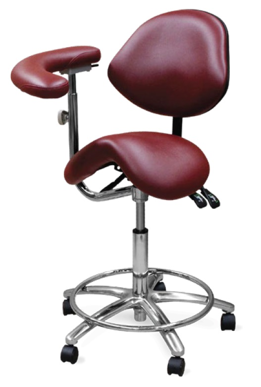 Galaxy Dental Assistant Stool Contoured Ergo Saddle Seat Model 2035