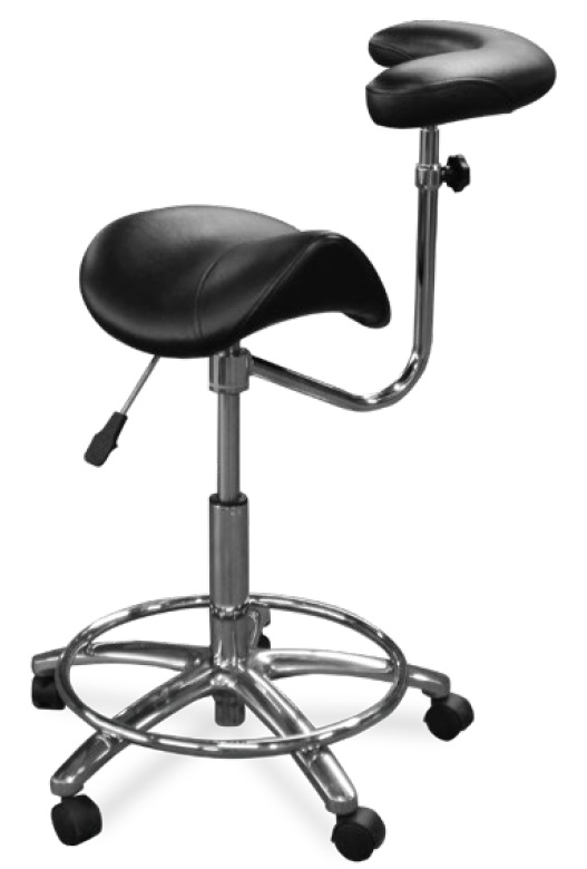 Galaxy Dental Assistant Stool Contoured Ergo Saddle Seat Model 2055