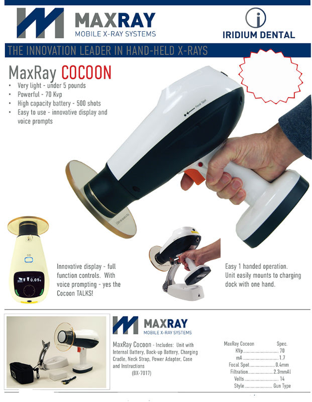 MaxRay Cocoon Dental HandHeld X-Ray Unit Brochure