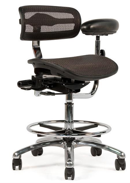Crown Seating Virtù C120 Mesh Assistant Stool