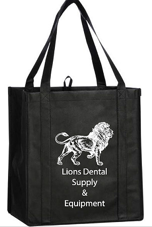 Free Dental Free Dental Black Non-Woven Grocery Tote