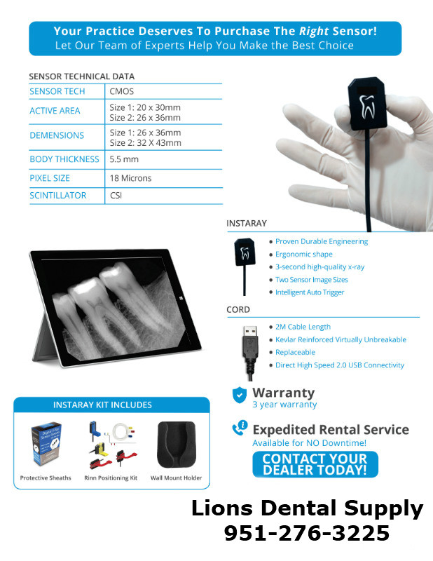 InstaRay Dental Digital X-Ray Sensors