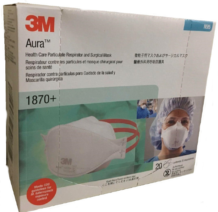 3M Health Care 1870+ N95 Particulate Respirator and Surgical Mask