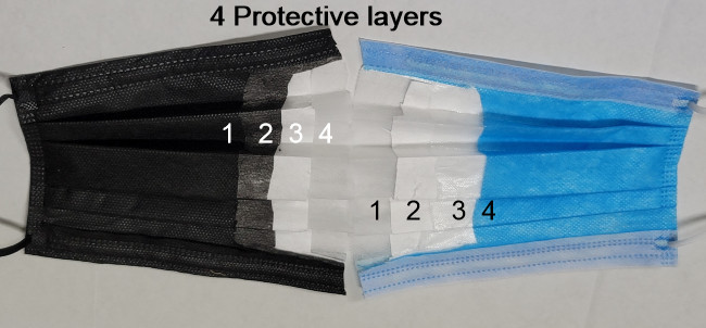 New SureSeal 4 Layer, Fog Free with Dual Fit Nose & Chin Piece