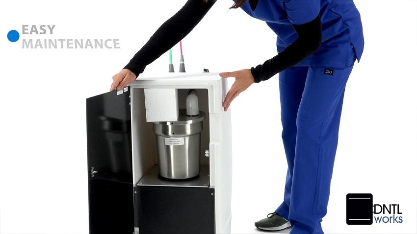Dental Mobile Vacuum Unit with Amalgam Separator for In-Office Use