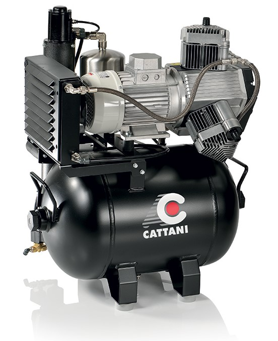 Cattani 3 Cylinder Oiless Dental Air Compressor