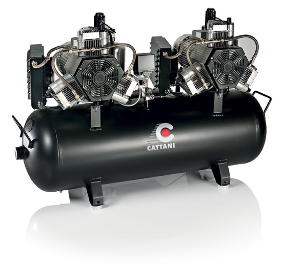 Cattani Twin Head 3 cylinder Oiless Compressor