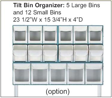Prcedure Cart Tilt Organizer Bins