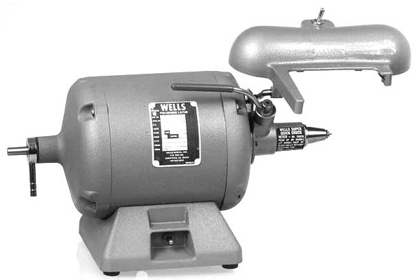 Wells U523 Laboratory Lathe and Quick Chuck With Light Shield