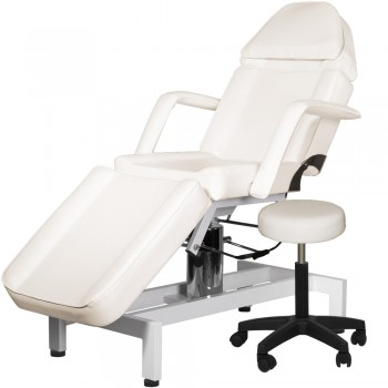 Hydraulic Facial Bed with Stool and Adjustable Head Rest