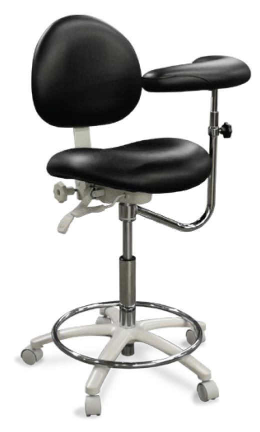 Model 2020 Dental Assistant Stool Contoured Seat