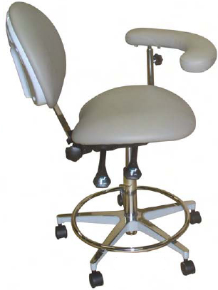 Model 2022 Dental Assistant Stool Contoured seat